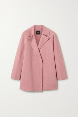 Theory Wool And Cashmere-blend Coat - Antique rose