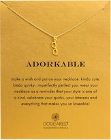 "Dogeared Adorkable"" Glasses Necklace, Gold Dipped 16"""