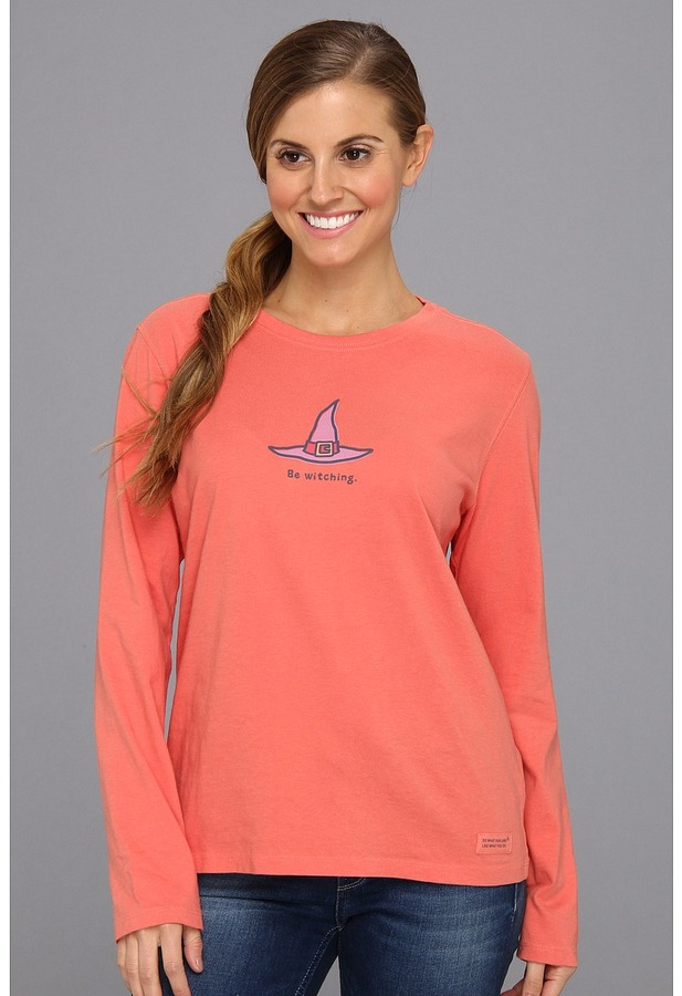 Life is Good Halloween Crusher L/S (Be Witching/Sunset Coral) - Apparel