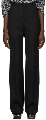 Balenciaga Black Wool Gabardine Trousers