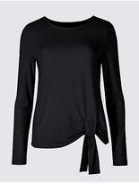 Twiggy Modal Rich Tie Side Long Sleeve T-Shirt