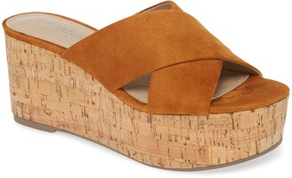 Charles by Charles David Civil Platform Wedge Slide Sandal