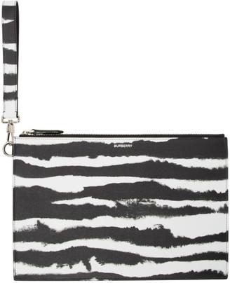 Burberry Black and White Zebra Print Pouch