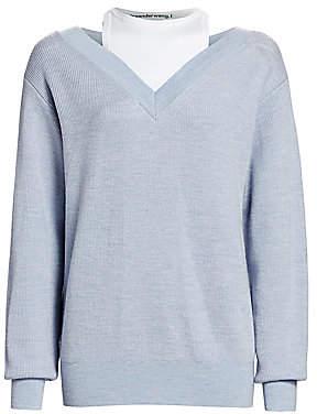 Alexander Wang Women's Bi-Layer Merino Wool Sweater