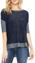 Vince Camuto High Low Color Block Sweater Top