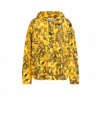 Moschino Yellow Pages Cotton Sweatshirt Man Yellow Size 44 It - (34 Us)