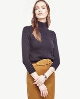 Ann Taylor Ribbed Trim Sweater
