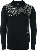 Saint Laurent studded crew neck sweater