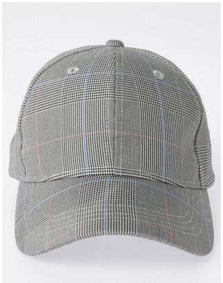 Piper DL24052 Grey Check Baseball Cap Summer Hats