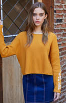 La Hearts Embroidered Ribbed Pullover Sweater