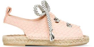 Maison Mangostan - Pale Pink Python Sandal - 26 - Pink