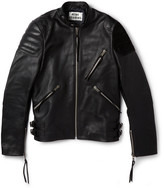 Acne Oliver Leather and Suede Biker Jacket