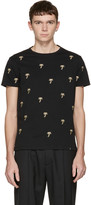 Marc Jacobs Black Embroidered Palm Trees T-Shirt