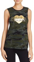 Spiritual Gangster Love Camouflage Tank