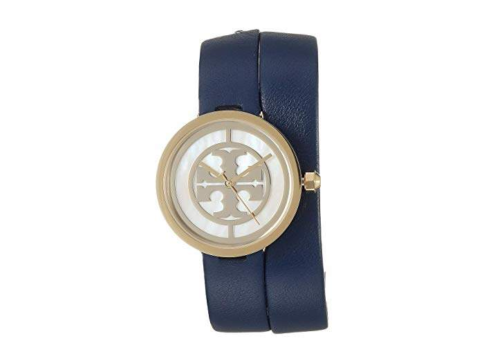 6fadc6146 Tory Burch The Reva Leather Wrap Watch - ShopStyle