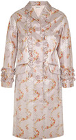 Miu Miu Ruffled floral-print taffeta coat