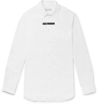 Givenchy Logo-Print Cotton-Poplin Shirt