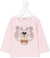 Kenzo logo print long-sleeved top - kids - Cotton/Spandex/Elastane - 3 mth