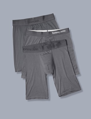 Tommy John Core Fabric Boxer Brief Sampler 3 Pack, Grey