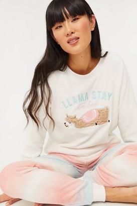 Ardene Llama Sweatshirt and Joggers PJ Set