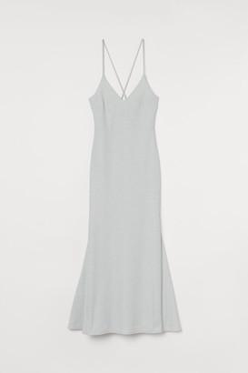 H&M Long Glittery Dress - Silver