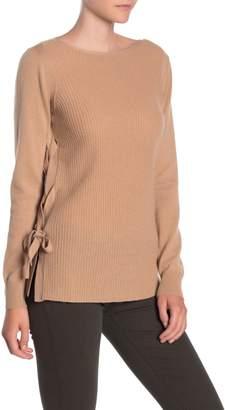 Sofia Cashmere Lace-Up Side Cashmere Sweater