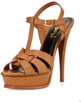 Saint Laurent Tribute Leather Platform Sandal