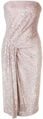Black Halo Domino sequin-embellished dress