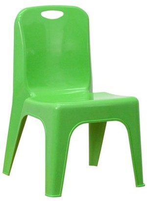 Flash Furniture Plastic Stackable School Chair with Carrying Handle and 11'' Seat Height