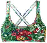 Amir Slama - embroidered bikini top - women - Elastodiene - P