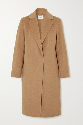 Vince Classic Wool-blend Coat - Tan
