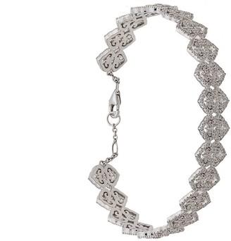 Colette 18kt White Gold Filigree Diamond Bracelet