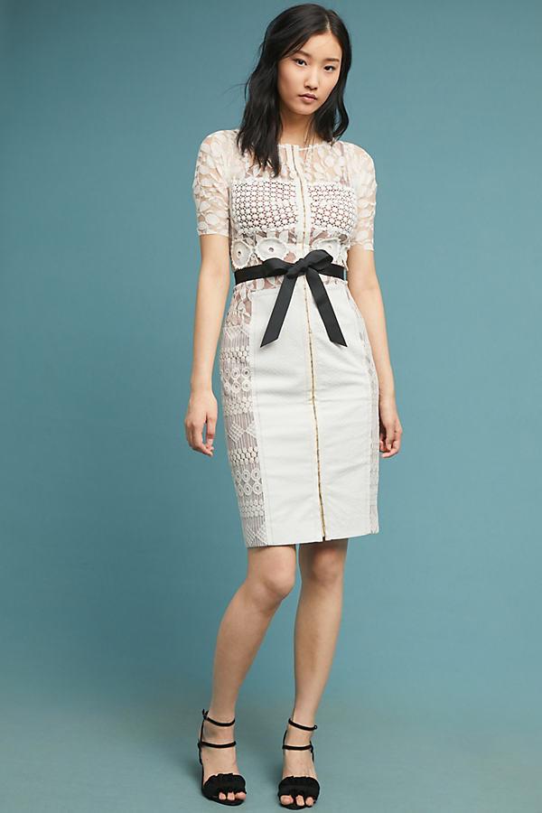Byron Lars Carissima Sheath Dress By Byron Lars in White Size 0 P