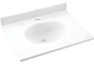 "Swan Ellipse Solid Surface 19"" Single Bathroom Vanity Top Top Finish: White"