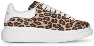 Alexander McQueen Leopard suede classic sneakers