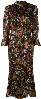Cinq à Sept Floral Print Midi Dress