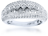 Ice 1/2 CT Diamond Milgrain Sterling Silver Vintage Inspired Marquise Shaped Fashion Ring