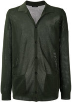 Roberto Collina perforated detail cardigan - men - Cotton - 48