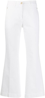 SLOWEAR High-Rise Cropped Kick-Flare Trousers
