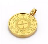 Bulgari Bvlgari Gold Plated Las Vegas Roulette Wheel Pendant