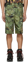 Givenchy Green Camo Money Shorts