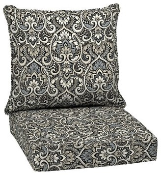"""Bungalow Rose Outdoor Seat/Back Cushion Fabric: Black, Size: 5.75"""" H x 24"""" W x 24"""" D"""