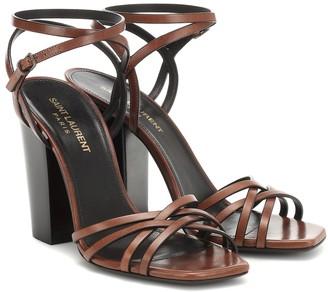 Saint Laurent Oak 100 leather sandals