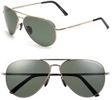 Porsche Design Men's 'P8508' 62Mm Polarized Aviator Sunglasses - Gold