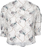 08sircus cropped floral print blouse - women - Cotton/Cupro - 36