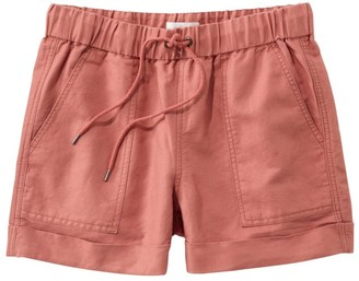 L.L. Bean Women's Signature Linen/Cotton Pull-On Shorts