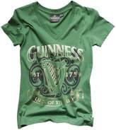 Guinness Ladies Luck of the Irish V-Neck T-Shirt (XLarge)