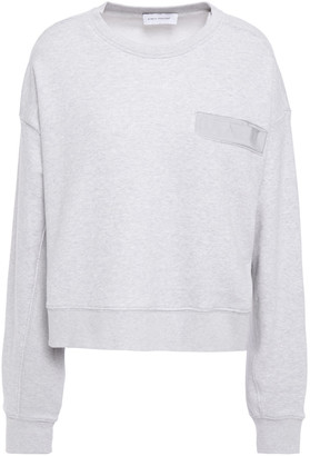 Ninety Percent Grosgrain-trimmed Melange French Cotton-terry Sweatshirt