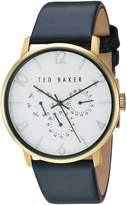Ted Baker Men's 'Smart Casual' Quartz Stainless Steel and Leather Dress Watch, Color: (Model: 10030764)