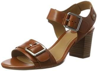 Clarks Relene Dazzle, Women's Wedge Heels Sandals Wedge Heels Sandals, Brown (Tan Leather), (38 EU)